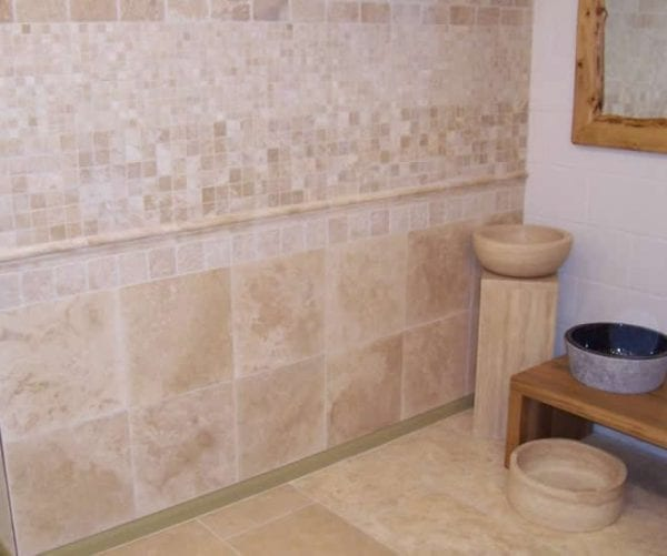 ivory travertine mosaics