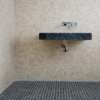 ivory travertine mosaic honed and filled