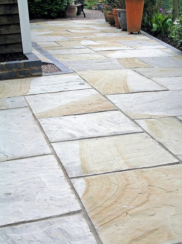 double colour paving slabs