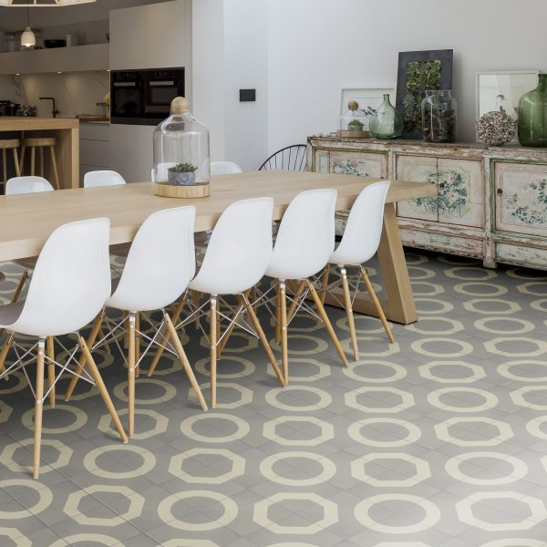 Encaustic tiles illusion pattern from 299 per tileheritage soft grey ppazfo