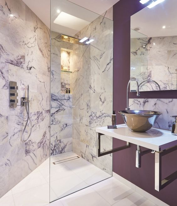 Amethyst Marble Tiles Honed
