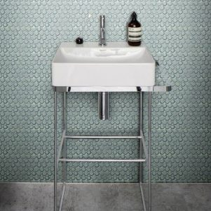 yoga penny mint green mosaic porcelain tiles