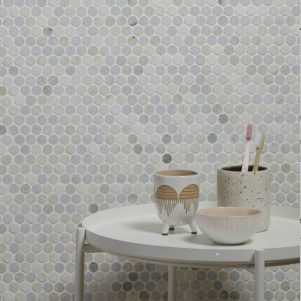jet set lotus marble mosaic tiles