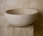 ivory travertine bowl