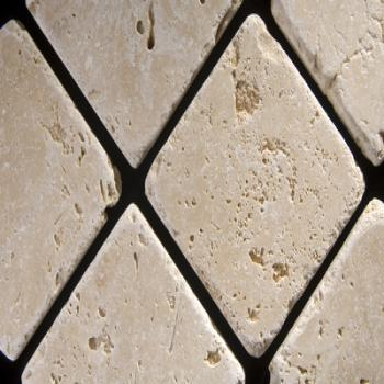 ivory travertine tumbled and unfilled