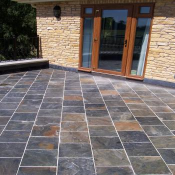 zeera green slate tiles polished and riven