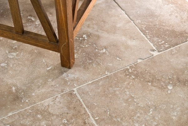 armani walnut tumbled and unfilled tiles