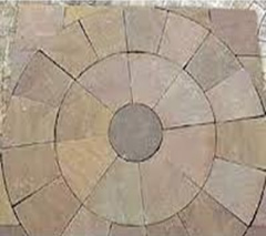 autumn brown circular paving kit