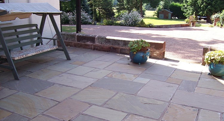 patio paving slabs in