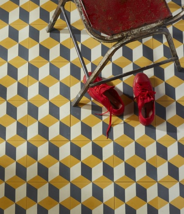 adam sulphur patterned encaustic tiles