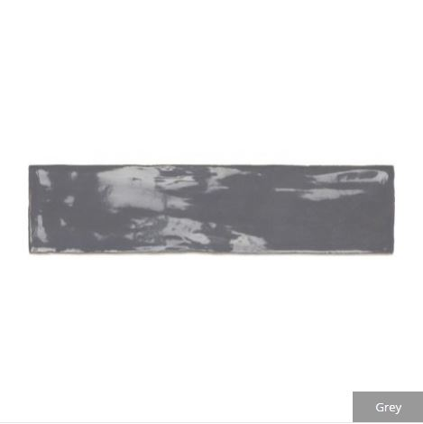 carter ceramic gloss tiles grey closeup