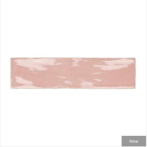 carter ceramic gloss tile rose closeup