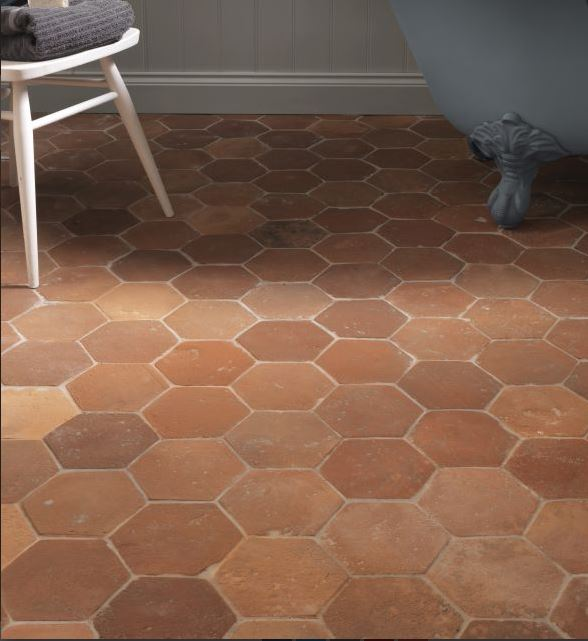 antique terracotta hexagon tiles1