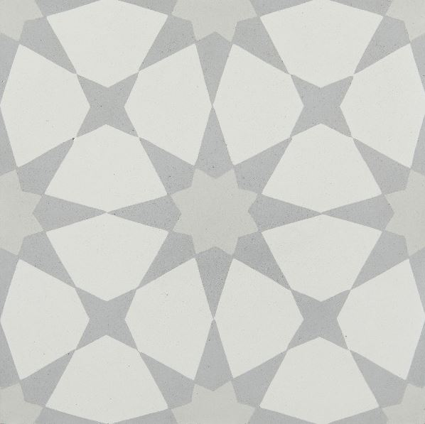 atlas soft grey encaustic tile