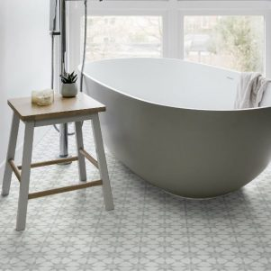 atlas soft grey encaustic tiles