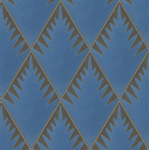 jigsaw fern blue charcoal encaustic tiles