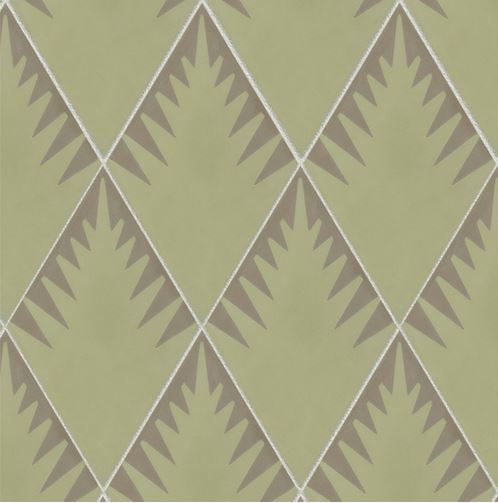 jigsaw fern smoke sage encaustic tiles