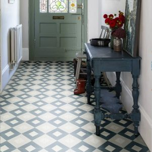 modern harlequin denim encaustic tiles