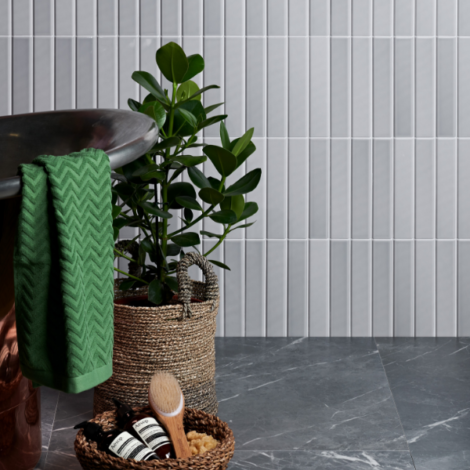 capietra dolly ceramic pale grey tiles